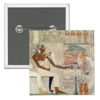Wall painting from the tomb of Rekhmire, Thebes, d 15 Cm Square Badge