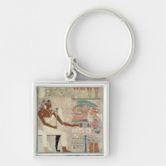 Wall painting from the tomb of Rekhmire, Thebes, d Silver-Colored Square Key Ring