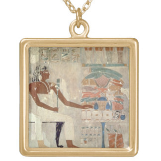 Wall painting from the tomb of Rekhmire, Thebes, d Square Pendant Necklace