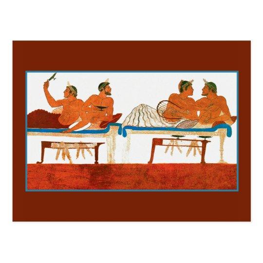 Wall Painting Paestum, Italy Postcard