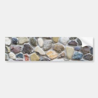 Wall pebble pattern bumper sticker
