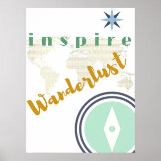 Wall Poster - Inspire Wanderlust - Wall Art