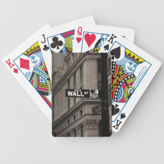 Wall St New York Bicycle Playing Cards