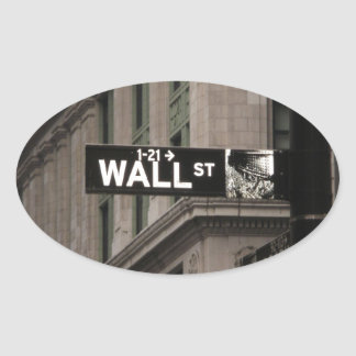 Wall St New York Oval Sticker
