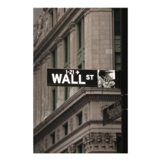 Wall St New York Personalised Stationery