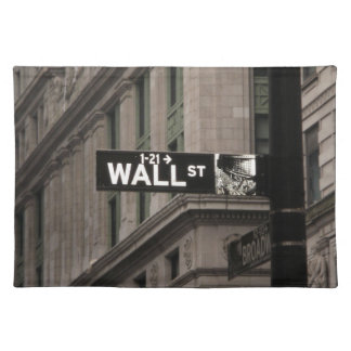 Wall St New York Placemat