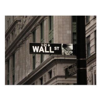 Wall St New York Postcard