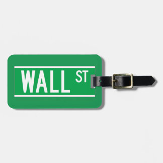 Wall St., New York Street Sign Luggage Tag