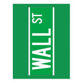 Wall St., New York Street Sign Postcard