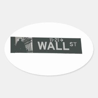 wall street3.ai oval sticker