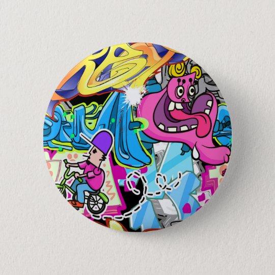 Wall Street Art 6 Cm Round Badge