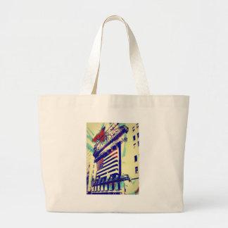 Wall Street Art Canvas Bag