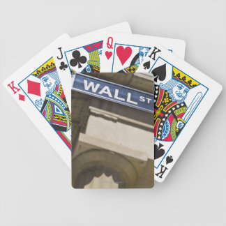 Wall Street Bicycle Playing Cards