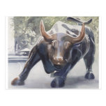 Wall Street Bull by Paul Jackson Post Card