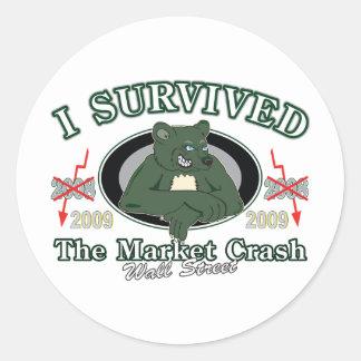Wall-Street/I Survived the Market Crash Classic Round Sticker