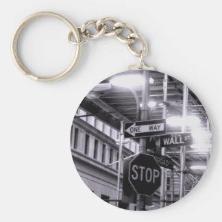 Wall Street keychain