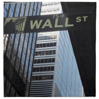 Wall Street Napkin