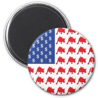 Wall Street Patriotic American Flag Magnet