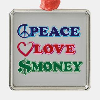 Wall Street/Peace Love Money Christmas Ornament