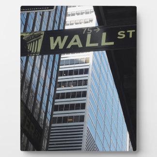 Wall Street Plaque