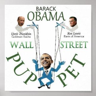 Wall Street Puppet Print
