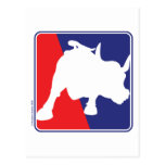 Wall Street Red White and Blue Bull Post Cards