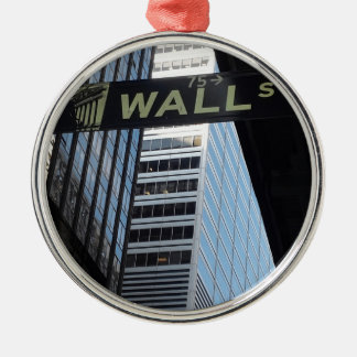 Wall Street Silver-Colored Round Decoration