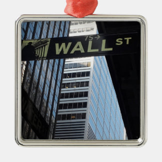 Wall Street Silver-Colored Square Decoration