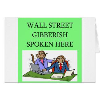 wall street stock market investor card