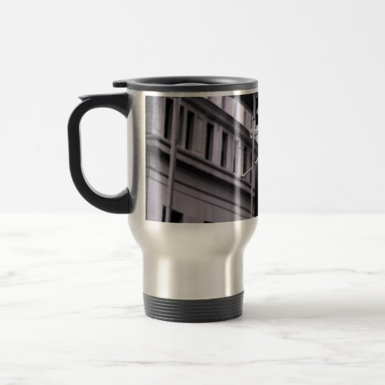 Wall Street travel mug