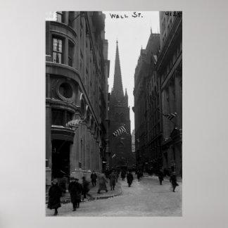 Wall Street Trinity Church Street New York Poster
