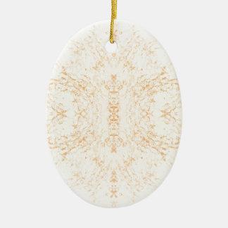 Wall texture flower Rorschach Ceramic Oval Decoration