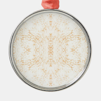 Wall texture flower Rorschach Silver-Colored Round Decoration