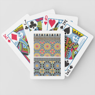 Wall tiles from the mihrab of the Mosque of Cheykh Bicycle Playing Cards