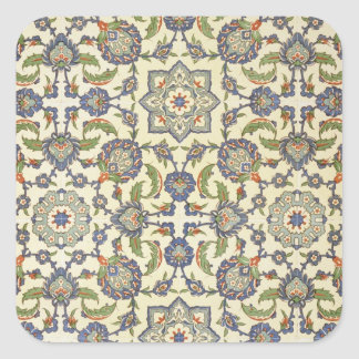 Wall tiles of Qasr Rodouan, from 'Arab Art as Seen Square Sticker