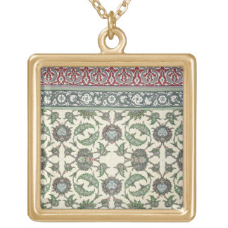 Wall tiles of the Mosque of Cheykhoun, from 'Arab Gold Plated Necklace