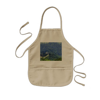 Wall vanishing into the distance kids apron