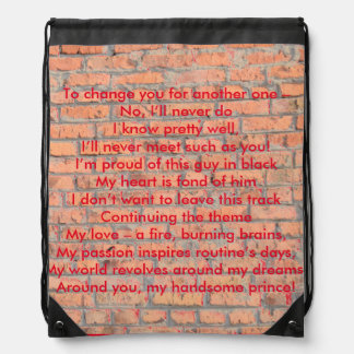 Wall with a Rhyme Backpack