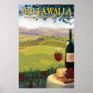Walla Walla, WA Wine Country - Travel Poster
