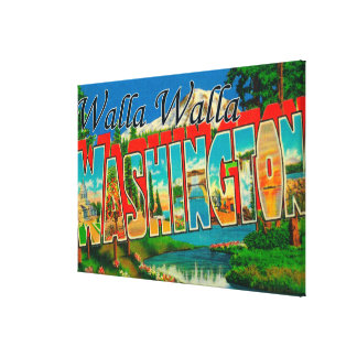 Walla Walla, Washington - Large Letter Scenes Canvas Print