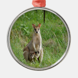 WALLABY AND JOEY RURAL QUEENSLAND AUSTRALIA CHRISTMAS ORNAMENT