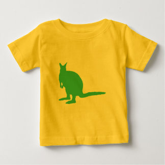 Wallaby. Animal in Green. Baby T-Shirt