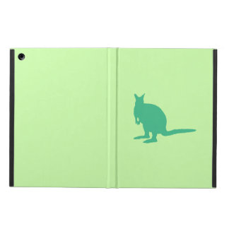 Wallaby. Animal in Green. iPad Air Cover