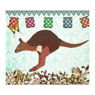 Wallaby Blue Misty Day Canvas Art