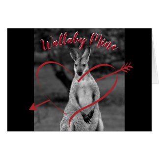 Wallaby Mine Heart Valentine's Day Australia Card