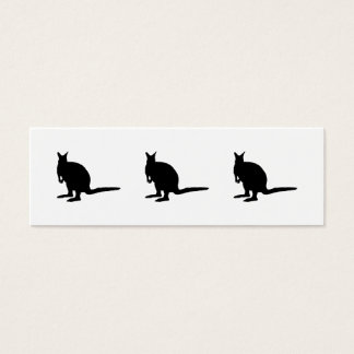 Wallaby. Mini Business Card