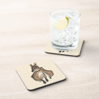 Wallaby Mother and Baby painted Drink Coaster