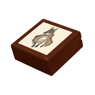Wallaby Mother and Baby painted Jewelry Boxes