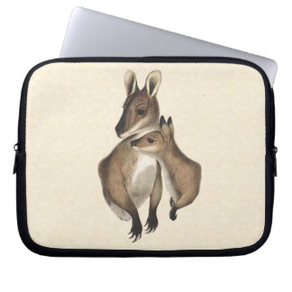 Wallaby Mother and Baby painted Laptop Sleeve
