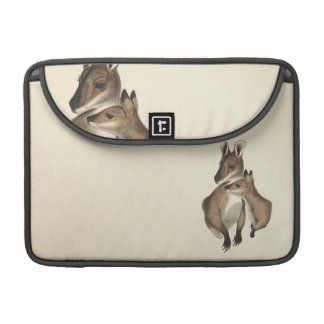 Wallaby Mother and Baby painted Sleeve For MacBook Pro